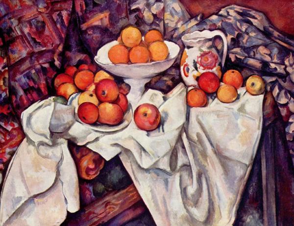 リンゴとオレンジのある静物1895-1900